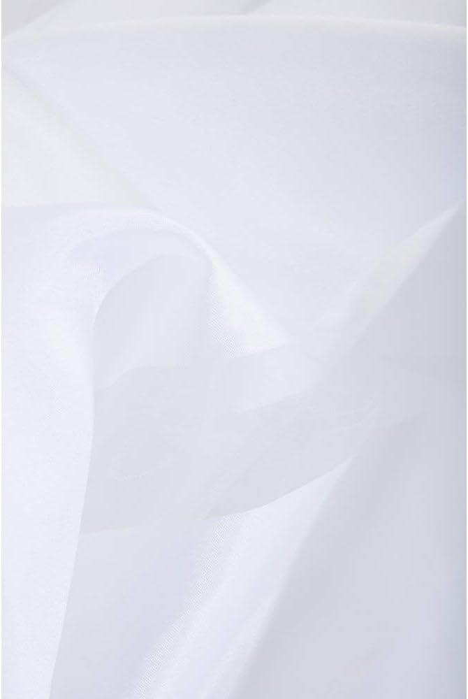 Rideau Voilage Style Moderne 140 x 240 cm /à Oeillets Uni Blanc Motif Rayures Effet Satin/é
