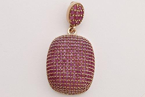 (Fantastic Design! Turkish Handmade Jewelry Round Cut Pink Ruby Zircon Stone 925 Sterling Silver)