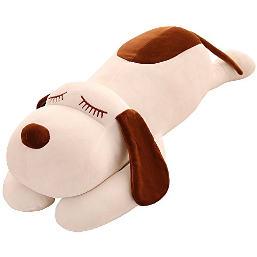 TTVOVO Dog Plush Toy Stuffed Animal Pillow Soft Huggable Dog Big Hugging Pillow Doll Cushion Toys Gift for Birthday Gift Xmas Soft Home Decor (Big Soft Toys)
