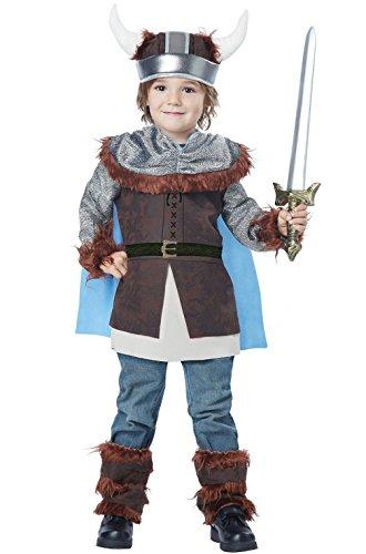 Mememall Fashion Valiant Viking Knight Warrior Boys Toddler Costume (Lil Viking Costume)