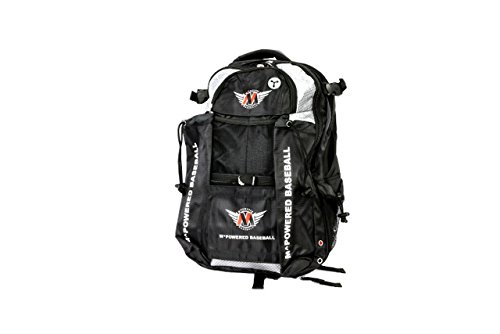 MPowered Ergonomic Pro Baseball Bat Backpack Bag, Extreme Exterior Organization and Quick-Access Phone and Key Pockets, 24