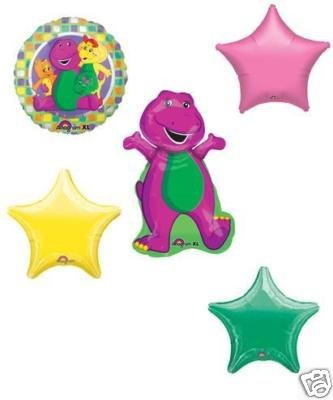 BARNEY BABY BOP BJ RIFF 5 Birthday Party Balloons SET