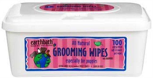 Earthbath All Natural Puppy Grooming Wipes, 100 Wipes, My Pet Supplies