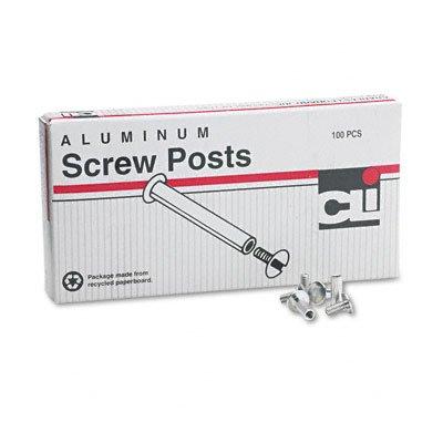 Charles Leonard - Post Binder Aluminum Screw Posts, 3/16'' Diameter, 1/2'' Long, 100/Box 3703L (DMi BX