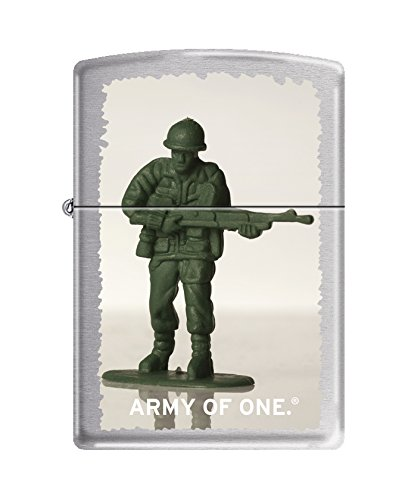 Lighter Pocket Chrome - Zippo US Army of One Brushed Chrome Pocket Lighter