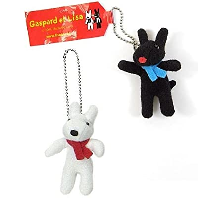 """Gaspard et Lisa A Pair of 2"""" Tall Stuffed Plush Doll with Chain: Toys & Games"""