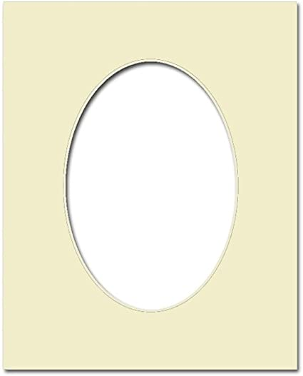 PA Framing Photo Mat Board Cream Core//Ivory Oval 5 x 7 inches Frame for 3.5 x 5 inches Photo Art Size