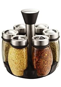 Ragalta USA RSR-010 7 Pieces Glass and Stainless Spice Carousel
