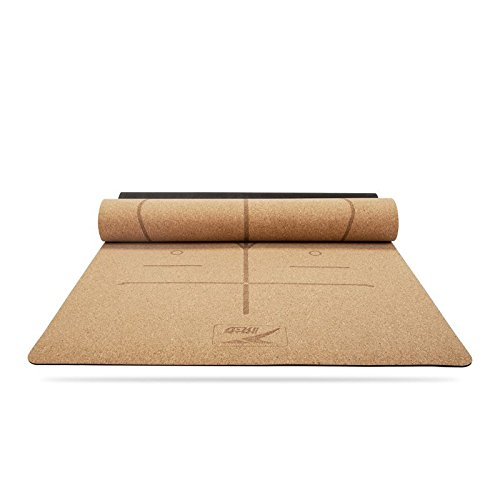 YOOMAT Naturkork Yoga Matte Anfänger Gummi Rutschfeste Yogamatten Pads erweitern