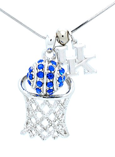 Wildcats Crystal (Kentucky Wildcats Crystal Basketball Necklace)
