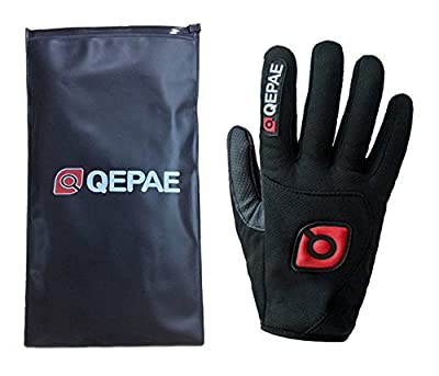 QEPAE Non-Slip Gel Pad Gloves Men's Women's Sportswear Cycling Riding Short Half Finger Gloves Breathable