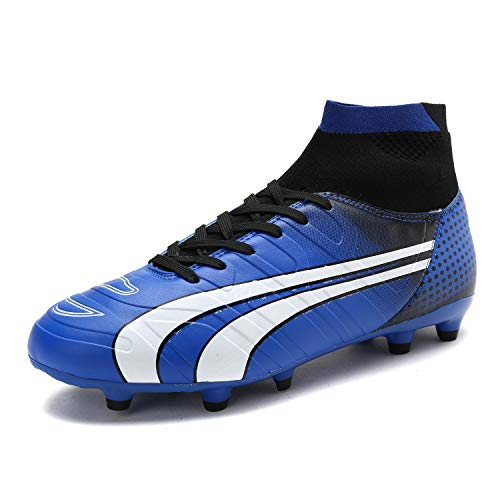 DREAM PAIRS Men's 160862-M Royal Black White Cleats Football Soccer Shoes - 11 M US ()