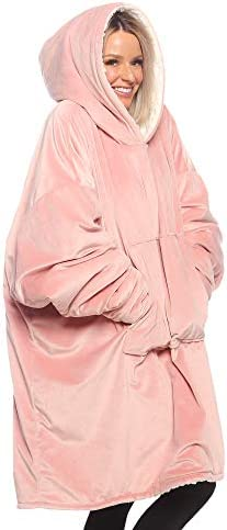 THE COMFY Original JR Seen On Shark Tank One Size Fits All The Original Oversized Sherpa Wearable Blanket for Kids