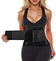 SIHOHAN Waist Trainer Belt Back Brace Cincher Trimmer Sports Slimming Body Shaper Band with Dual Adjustable Belly for...