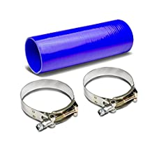 "3.5"" to 3.5"" 12"" Long Straight 4-Ply Turbo/Intake/Intercooler Piping Silicone Coupler Hose+T-Clamp (Blue)"