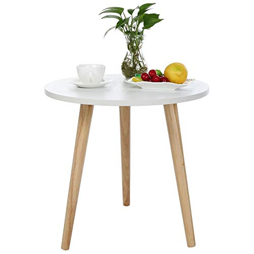 (ASOBIMONO Nesting Coffee Table, Round End Tables Small Side Desk Nordic Minimalist with 3 Legs for Living Room, Bedroom, Nightstand, Modern Decor(US Stock))