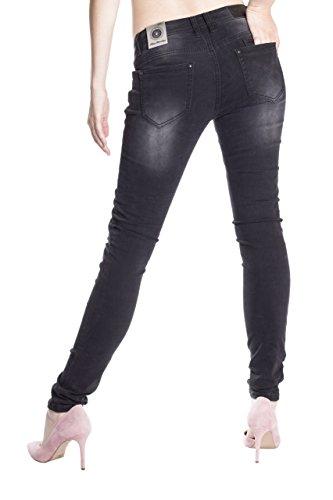 Básico Blue Mujer Jeans para Skinny Monkey Vaqueros negro qBBFwv7Sn
