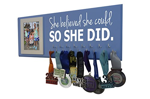 (Medal Display - SHE Believed SHE Could, SO SHE DID - All Sports - Running - Gymnastics - Swimming - Cheerleading -)