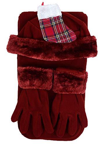 Women's Burgundy Red Winter...