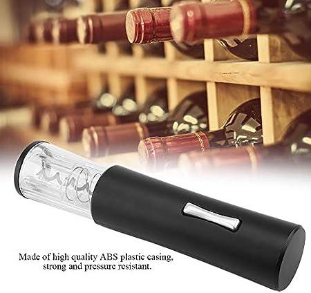 Abridor de Vino Eléctrico Abrebotellas Automático Eléctrico de ABS para El Hogar Abrebotellas Sacacorchos Presión de Aire Abrelatas de Vino Fiesta de Apoyo, Set Hogar, Navidad (Batería No Incluida)