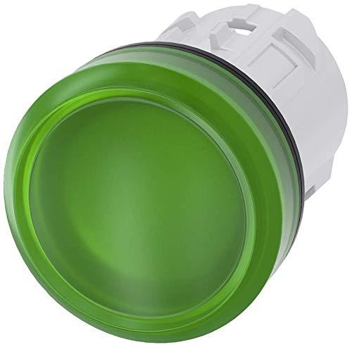 Siemens 3SU10016AA400AA0 Indicator Light, Plastic, IP66, IP67, IP69K Protection Rating, Black Plastic, 22mm, Green