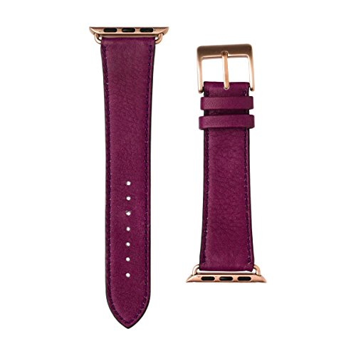 Roobaya | Premium Sauvage Leather Apple Watch Band in Purple | Includes Adapters matching the Color of the Apple Watch, Case Color:Rose Gold Aluminum, Size:42 mm by Roobaya (Image #2)