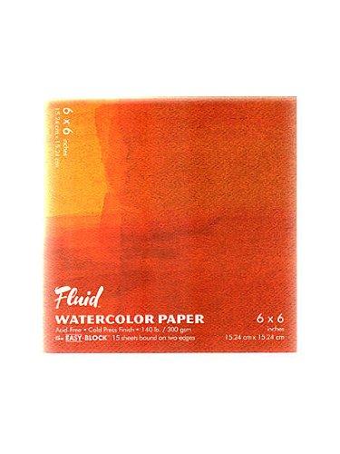(Global Art Fluid Watercolor Blocks 6 in. x 6 in. block [PACK OF 3 ])
