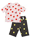 UniFriend Fox & Apple Girls 2 Piece 100% Cotton Short Pajama Set US 18M/Asia 90 (KGSPJ072)
