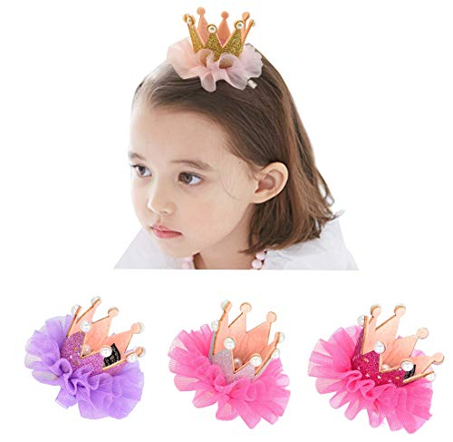 Ecome 3pcs Girl Hairpin Baby Elastic Flower Crown Headwear Hair -