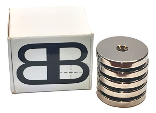 "Best Neodymium Ring Magnets w/ Countersunk HoleStrongest on Market 5 Pack, 34 lbs Holding Force, Strong, Permanent, Rare Earth, DIY, Kitchen, Garage, Tool, Organizer 1.26"" x 0.20"" 32mm x - Malaysia Sales Online"