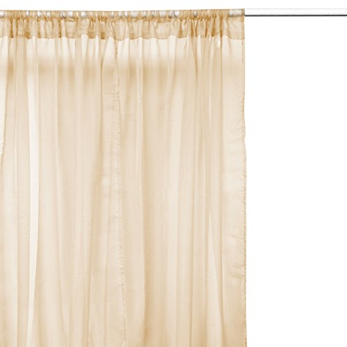 Luxor Linens 2 Piece Solid Sheer Window Curtains Drapes