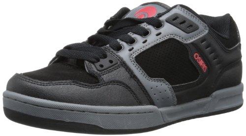 Osiris Men's Cinux Skate Shoe,Black/Charcoal/Red,5 M US