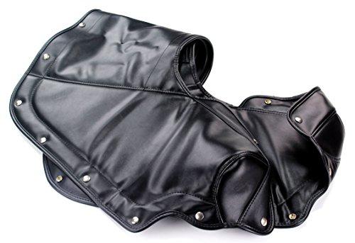 TMI 22-7107-958 Mustang Black Sierra Grain Vinyl Padded Convertible Top Boot with Snap Fastener Design (Snaps installed)