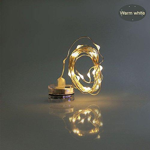 elegantstunning 4 M 40 Light Waterproof Flexible LED Copper Wire String Colored Light Decoration Lamps by elegantstunning