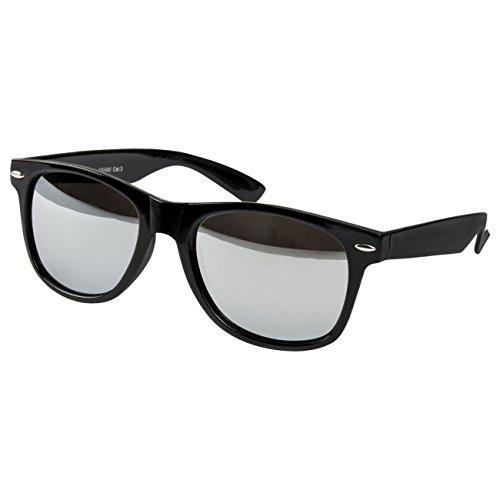 Style Uv400 Soleil Lunettes De Retro Lunette Vintage Schwarz Nerd Spiegel uv®400 Ciffre Norme Miroir Glas PwTqxtIn5