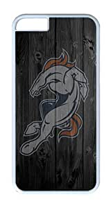 iPhone 6 Plus Case, iPhone 6 Plus Cover - Broncos Scratch Protection Snap-on White Plastic Back Cover Case for iPhone 6 Plus 5.5 inch