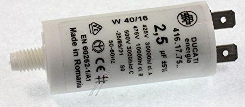 condensateur de d/émarrage en m/étal 9,uf-475volts faston 6,3mm