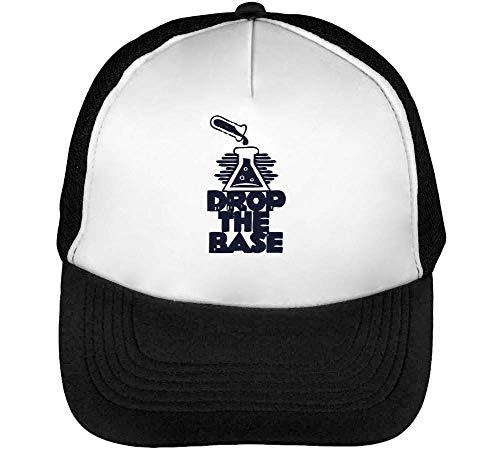 Drop The Base Gorras Hombre Snapback Beisbol Negro Blanco