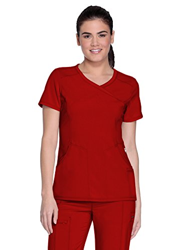 Cherokee Infinity 2625A Mock Wrap Top Red XS