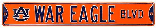 War Eagle Blvd Auburn Steel Sign Wall Sign 36 x 6in (Eagle Street Sign)