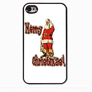 Mini - The Santa Claus and Merry Christmas Design Aluminum Hard Case for iPhone 4/4S