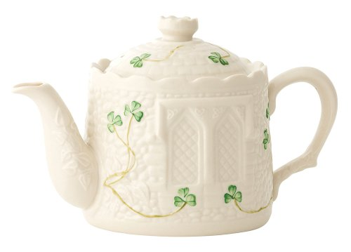 Irish Belleek Castle Shaped Teapot