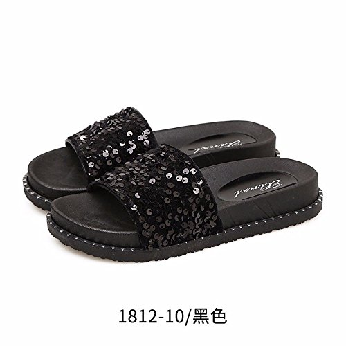 women slippers fashion summer LIUXINDA British The by are worn XZ Black in xHqOR8