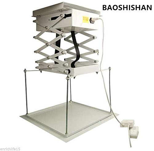 1m Electric Projector Bracket Motorized Projector Lift hanger Ceiling Mount Bracket For Cinema school (220V) by BAOSHISHAN (Image #8)