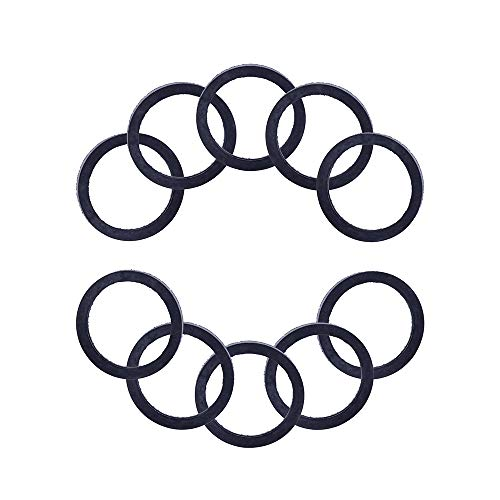 (ROADFAR Rubber Gas Spout Gaskets,10pcsSpout Gasket Rubber Viton Gaskets Replacement Fuel Gas Can Seals Spout Gasket Jerry Can Cap Gaskets Rubber Viton U-Seal Gaskets for Gas Spout.)