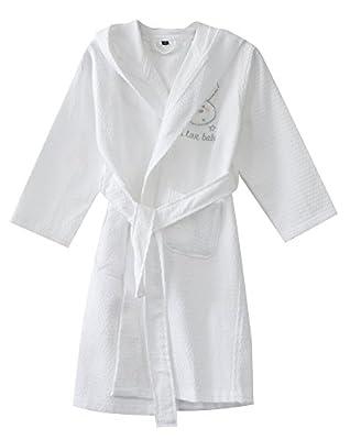 KISBINI 100% Cotton Long Hooded Robes Bathrobe For Kids Children