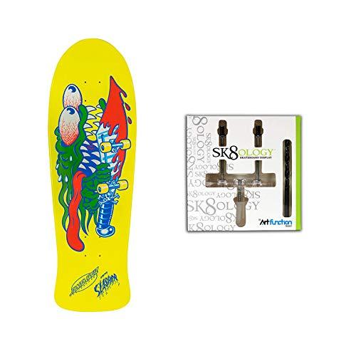Santa Cruz Old School Re-Issue Deck Slasher Raised Ink w/ Sk8ology Wall - Deck Slasher