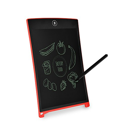 LeaningTech Electronic Digital LCD Writing Pad Tablet Drawing Graphics Board Notepad, Gifts for Kids Family Office Writing Board 8.5 inch Red
