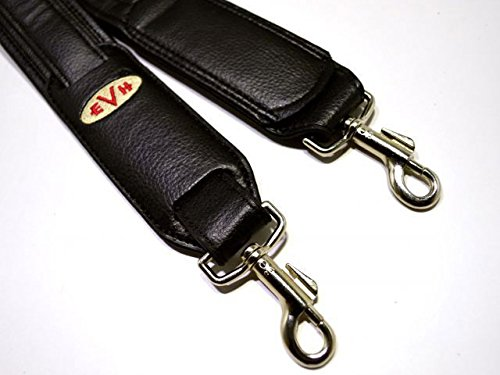 EVH Guitar Strap Black Leather Standard/Holder&Heaton Set   B07D2BKPRD