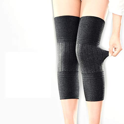 TY BEI Kneepad Kneepad - Cashmere Protection Knee Warm Men and Women Winter Thickening Old Man Cold Leggings Paint wear Joints self-Heating @@ (Color : Black) by TY BEI (Image #8)